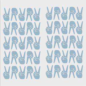 Removable Blue Peace Signs Wall Decals 100 Pieces